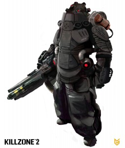 Helghast heavy trooper from Killzone 2
