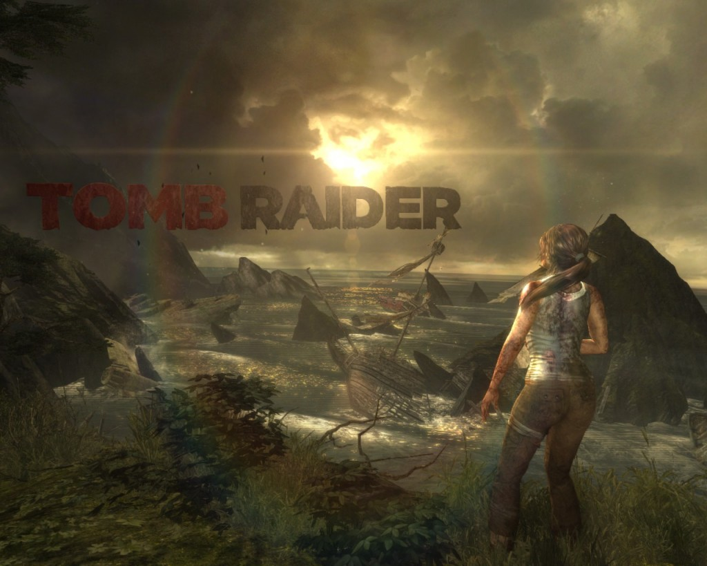 Tomb Raider screenshot - title scene