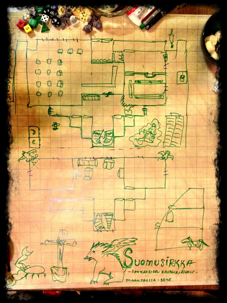Map of the insect store - the heroes' home for most of second season