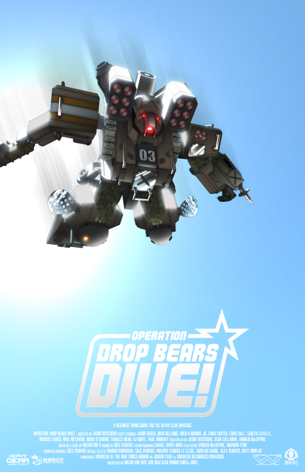 Mock movie poster for Operation Drop Bears Dive by KodiakDestroyer on DeviantArt