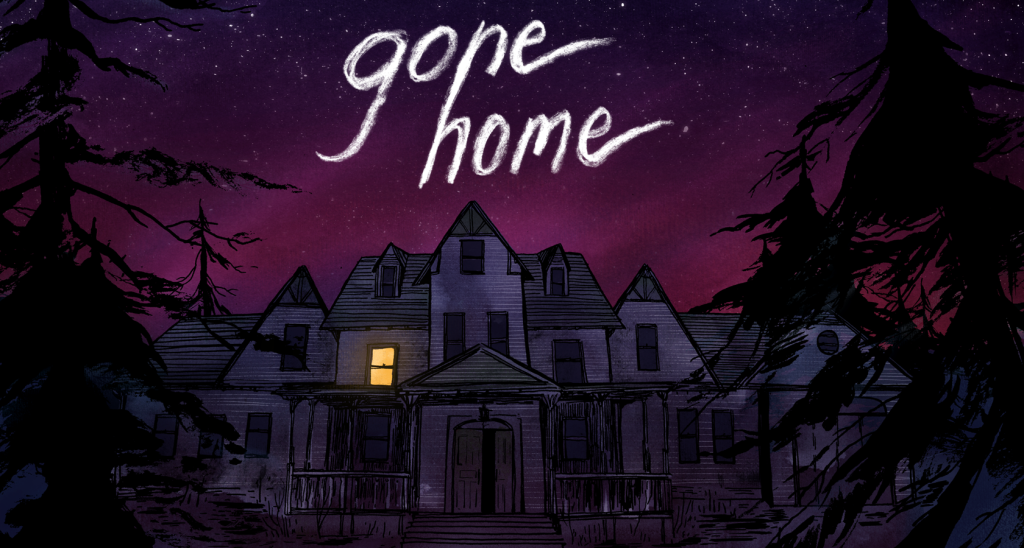 Gone Home title screen