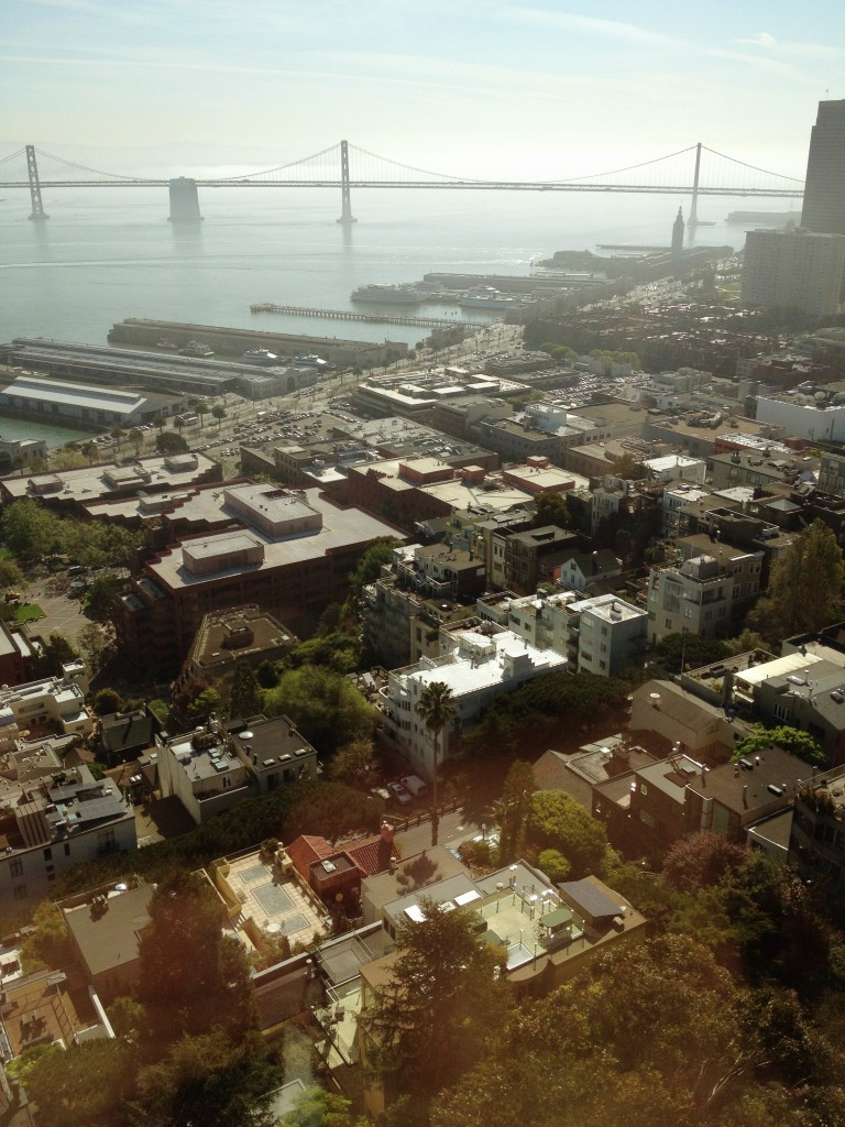 View from Coit Tower towards Embarcadero. San Francisco, March 2013